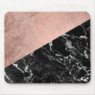 Tapis De Souris Bloc rose élégant moderne de couleur de marbre de