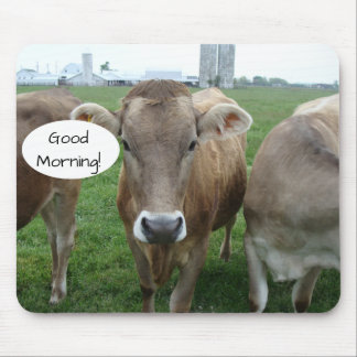 Tapis De Souris Bonjour de votre coalition locale de vache du