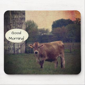 Tapis De Souris Bonjour de votre ferme locale de vache du Jersey