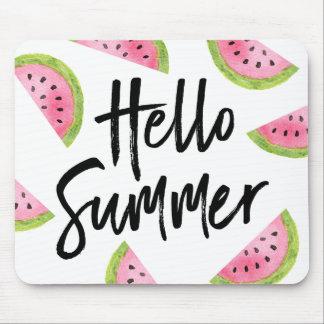 Tapis De Souris Bonjour pastèque d'été