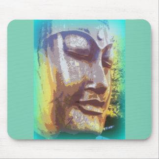 Tapis De Souris Bouddha font face au vert