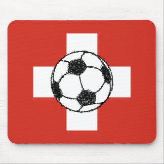 Tapis De Souris Boule du football du drapeau | de la Suisse
