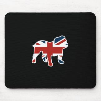 Tapis De Souris Bouledogue anglais dans le drapeau d'Union Jack