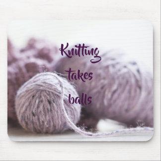Tapis De Souris Boules de tricotage de prises