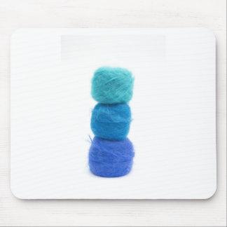 Tapis De Souris boules empilées de fil bleu