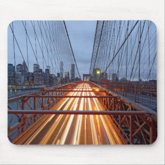 Tapis De Souris Bridge de Brooklyn le soir