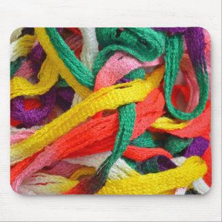 Tapis De Souris Brins colorés de fil