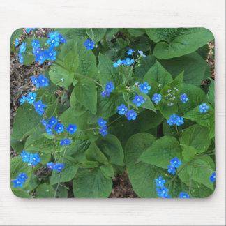Tapis De Souris Bugloss sibérien - bleu et vert -