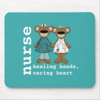 Tapis De Souris Cadeau drôle Mousepads d'infirmières de nounours