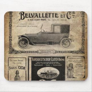 Tapis De Souris Cadeau vintage de coutume de journal