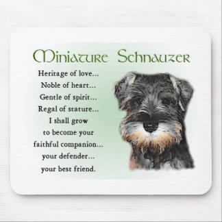 Tapis De Souris Cadeaux de Schnauzer miniature