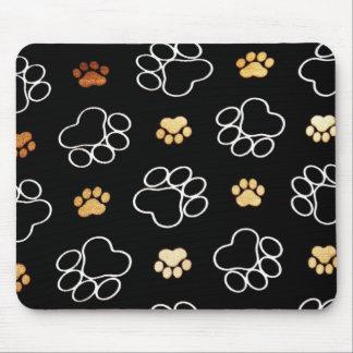 Tapis De Souris Cadeaux d'empreintes de pattes de chiot de chien p