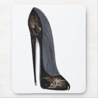 Tapis De Souris Cadeaux stylets noirs et de cuivre d'art de
