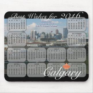 Tapis De Souris Calendrier de l'horizon 2016 de Calgary
