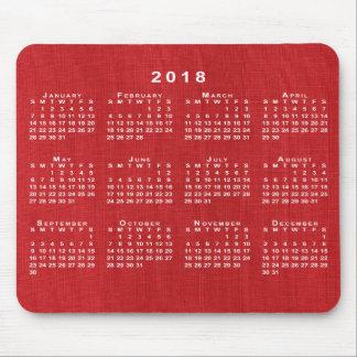 Tapis de souris calendrier rouge personnalis s - Tapis de souris personnalise belgique ...