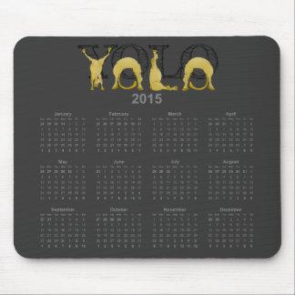 Tapis De Souris Calendrier flexible 2015 de poney de YOLO
