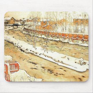 Tapis De Souris Canal dans la neige