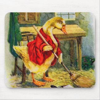 Tapis De Souris canard des années 1930 balayant le plancher