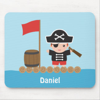 Tapis De Souris Capitaine mignon Ocean Raft For Boys de pirate