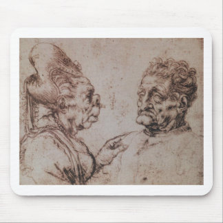Tapis De Souris Caricature par Leonardo da Vinci
