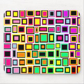 Tapis de souris carré abstrait multicolore