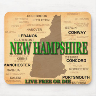 Tapis De Souris Carte de cru du New Hampshire