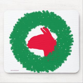 Tapis De Souris Carte et plus de Noël de guirlande et de lama de