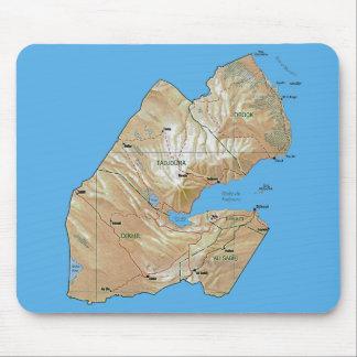 Tapis De Souris Carte Mousepad de Djibouti