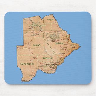 Tapis De Souris Carte Mousepad du Botswana
