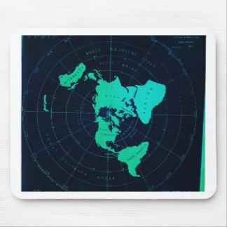 Tapis De Souris Carte plate de la terre (projection équidistante