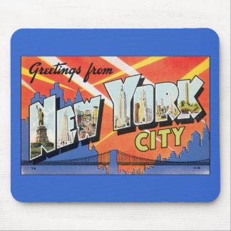 Tapis De Souris Carte postale de New York City de Mousepad-Cru