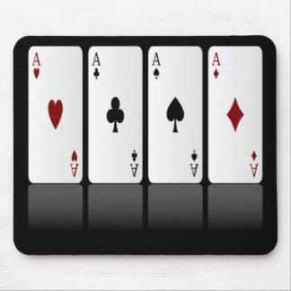 Tapis De Souris Cartes de jeu Mousepad, quatre as