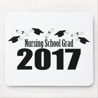 Tapis De Souris Casquettes du diplômé 2017 d'école d'infirmières