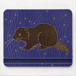 Tapis De Souris Castor simili cuir de zodiaque de Natif américain