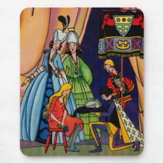 Tapis De Souris Cendrillon, le prince et la pantoufle en verre