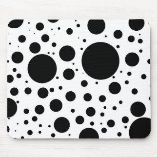 Tapis De Souris Centaines de points et cercles noirs dans la