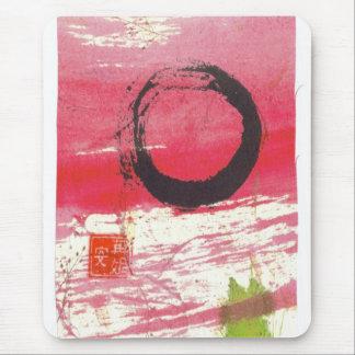Tapis De Souris Cercle magenta de zen