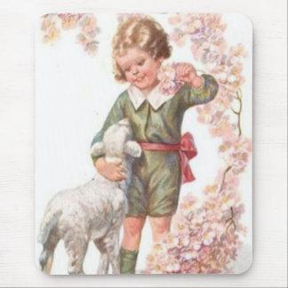 Tapis De Souris Cerisier victorien d'agneau d'enfant