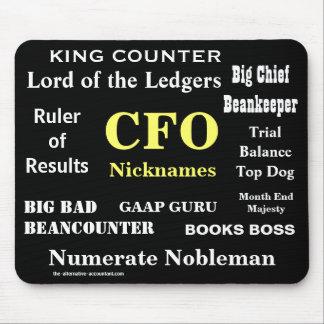 Tapis De Souris CFO surnomme des fonctions drôles de plaisanterie