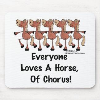 Tapis De Souris Chacun aime un cheval de choeur