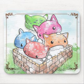 Tapis De Souris Champignons mignons de chat de Mewshroom Mousepad