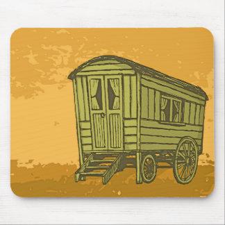 Tapis De Souris Chariot gitan de caravane