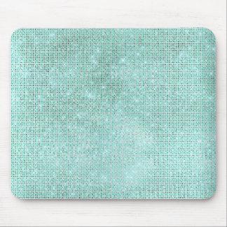 Tapis De Souris Charme brillant de diamant bleu vert de bleu