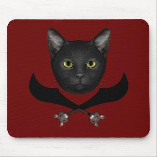 Tapis De Souris Chat de drapeau de pirate