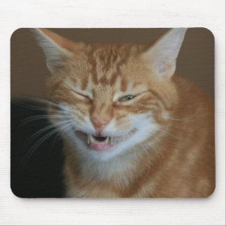 Tapis De Souris Chat orange ressemblant à un pirate Mousepad