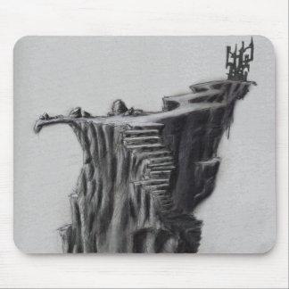 Tapis De Souris Château d'imaginaire sur une falaise