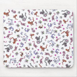Tapis De Souris Chats créatifs - un motif coloré d'Animal-Amants