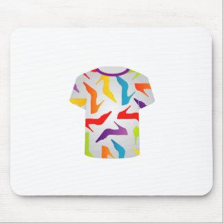 Tapis De Souris Chaussures colorées de calibre de T-shirt