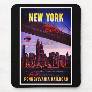 Tapis De Souris Chemin de fer vintage de la Pennsylvanie vers New