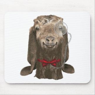 Tapis De Souris Chèvre drôle de Nubian avec le monocle